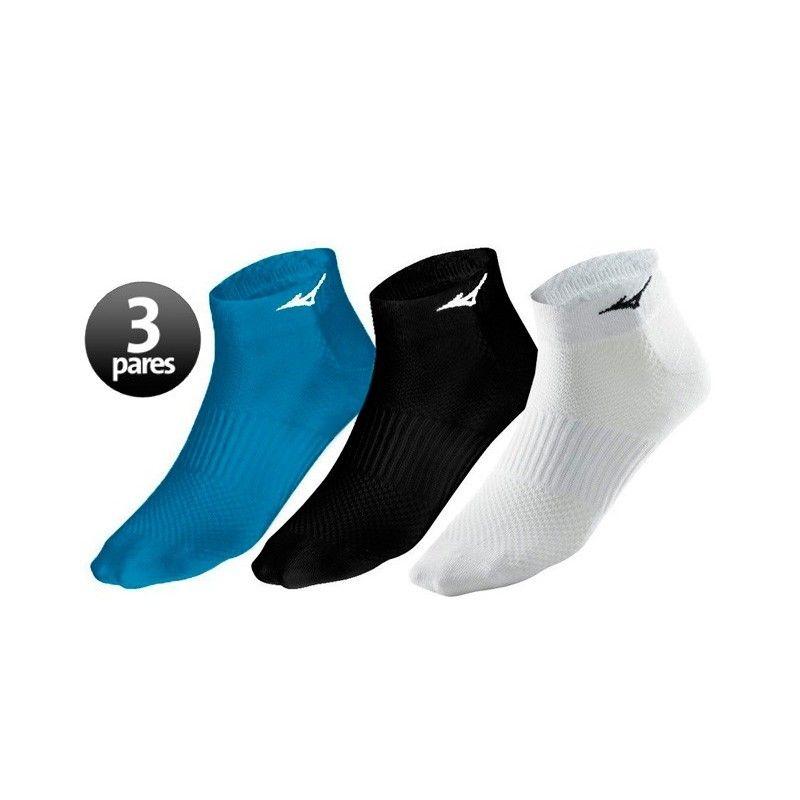 Pack de 3 pares de calcetines Mizuno Training Mid 3P Azul / Blanco