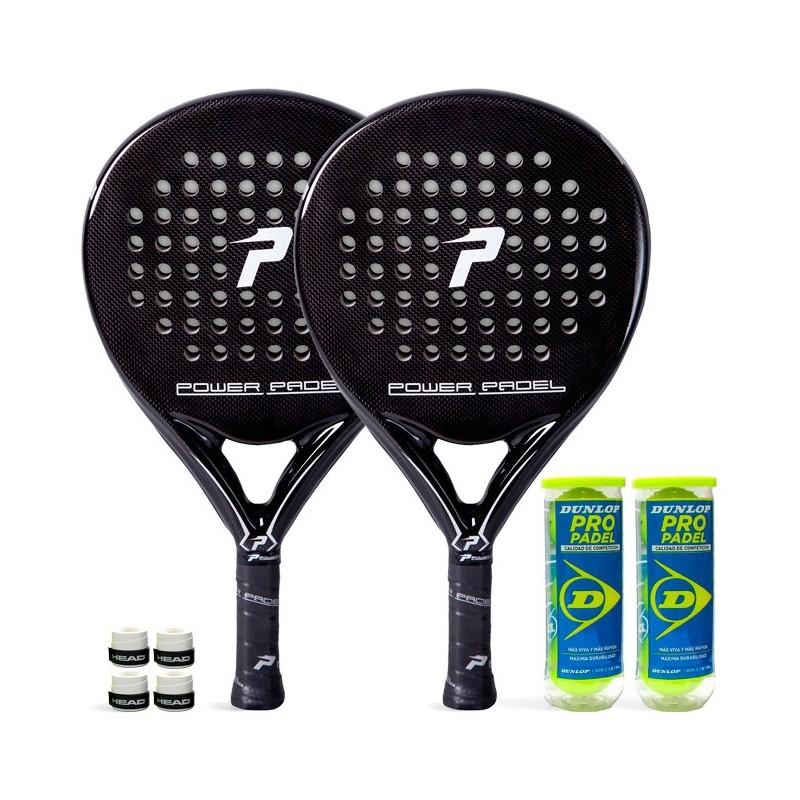 Pack Duo Power Padel Black Brillo