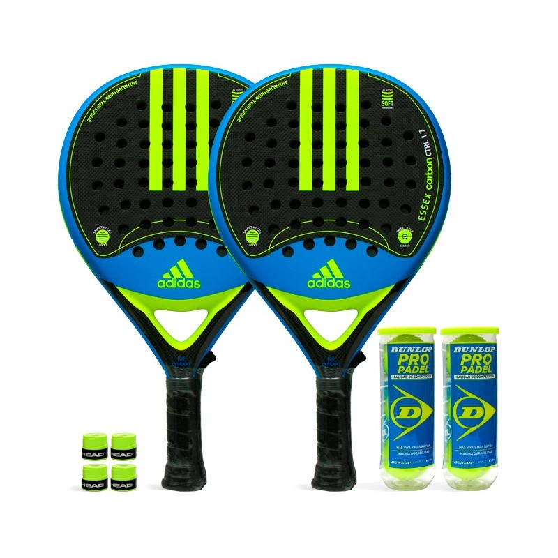 Pack Duo Adidas Essex Carbon Control 1.7 Yellow