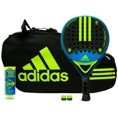 Pack Adidas Essex Carbon Control 1.7 Yellow + Paletero Control
