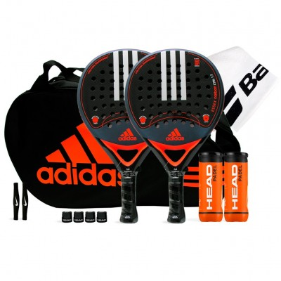 Pack Duo Adidas Essex Carbon Control 1.7 Orange + Paletero Control