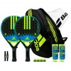 Pack Duo Adidas Essex Carbon Control 1.7 Yellow + Paletero Control