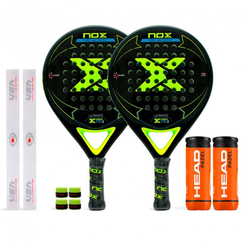 Pack Duo Nox Ultimate Carbon Pro 2 Yellow