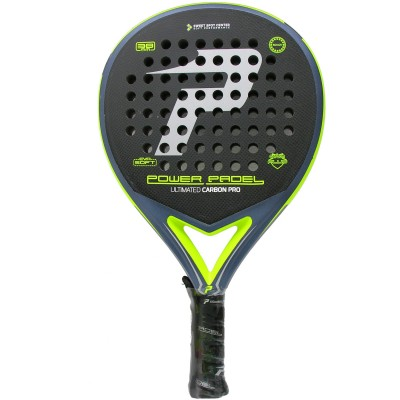 Pala Power Padel Ultimated Carbon Pro Silver / Yellow Rugosa