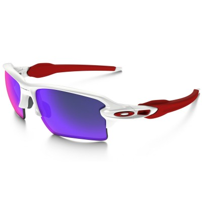 Gafas Oakley FLAK 2.0 XL Polished White - Red Iridium 918821