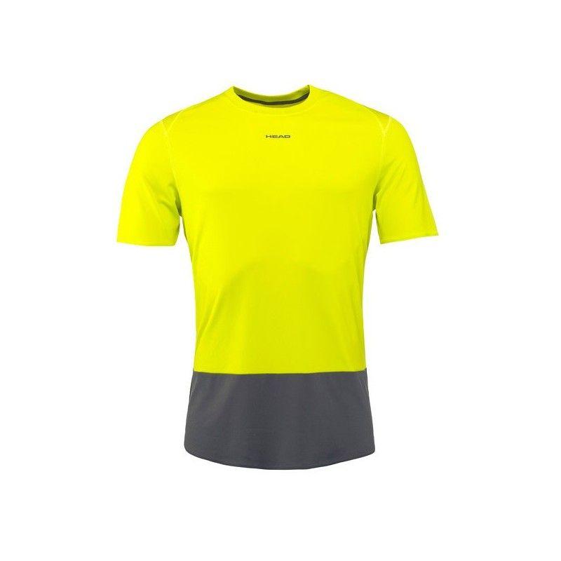 Camiseta Head Vision Tech amarilla 2018