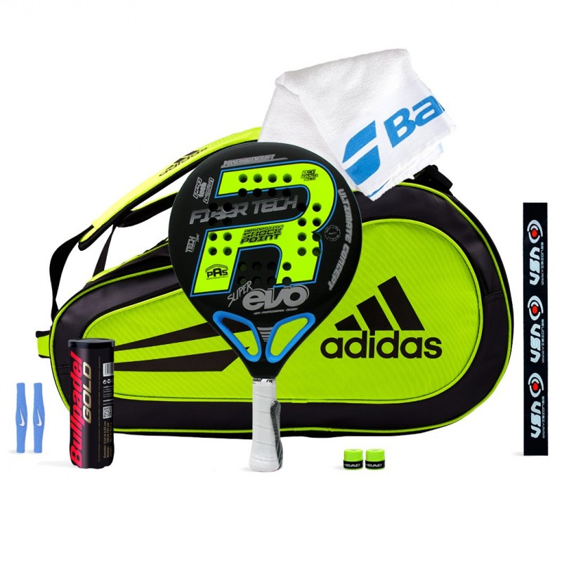 Pack Royal Pádel Super Evo Yellow + Paletero Adidas Supernova