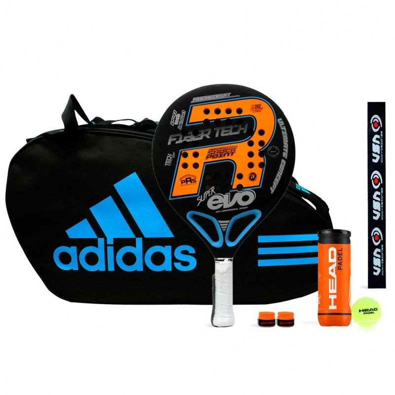 Pack Royal Pádel Super Evo Orange + Paletero Adidas Control