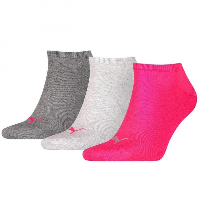 Pack de 3 pares de calcetines Puma Sneaker Rosa / Gris