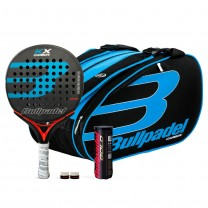 Pack Bullpadel KX Carbon Blue + Paletero 18004