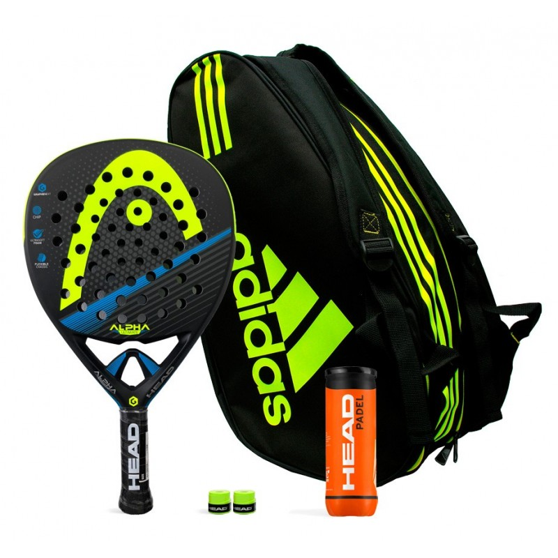 Pack Head Graphene XT Alpha Ultimate Yellow + Adidas Control