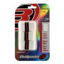 Blister de 3 Overgrips BullPadel GB-1200 blanco
