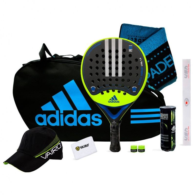 reducir Regreso Absorber  Pack Adidas Essex Carbon Attack 1.8 Lima + Control