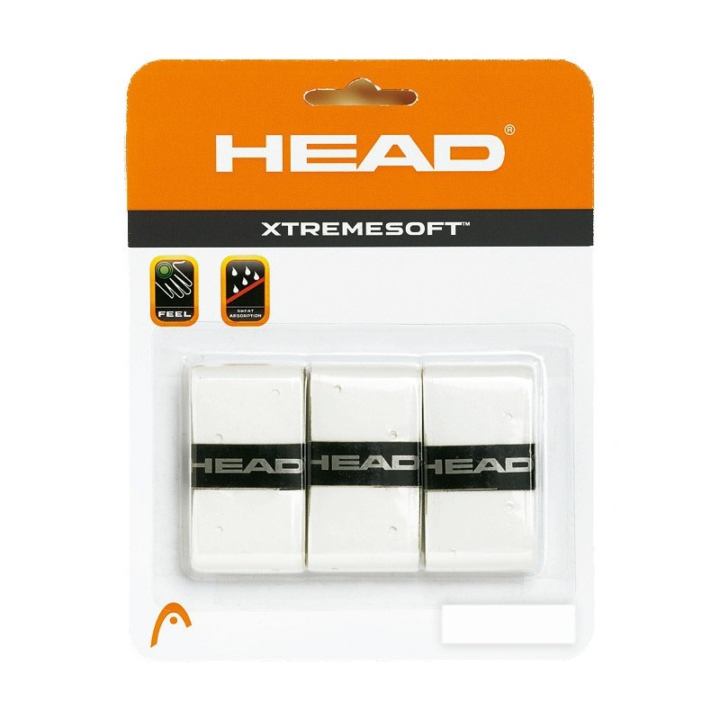 Blister de 3 Overgrips Head Xtremesoft blanco