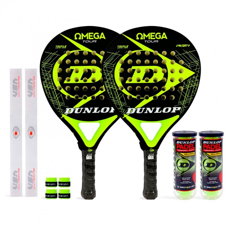 Pack Duo Dunlop Omega Tour Yellow