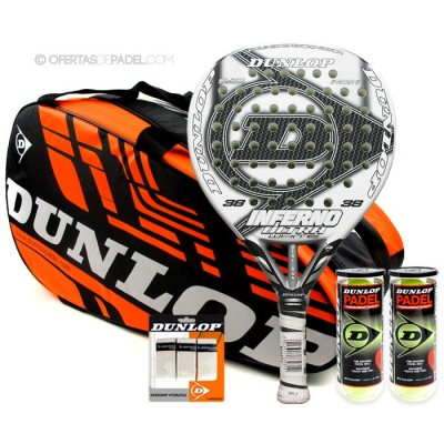 Pack Dunlop Inferno Ultra White 2014 + paletero Play Grande