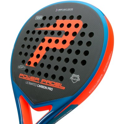 Pala Power Padel Ultimated Carbon Pro Orange / Blue Mate