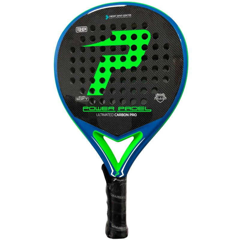 Pala Power Padel Ultimated Carbon Pro Green