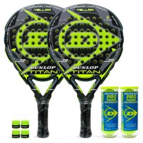 Pack de pádel Duo Dunlop Titan Yellow