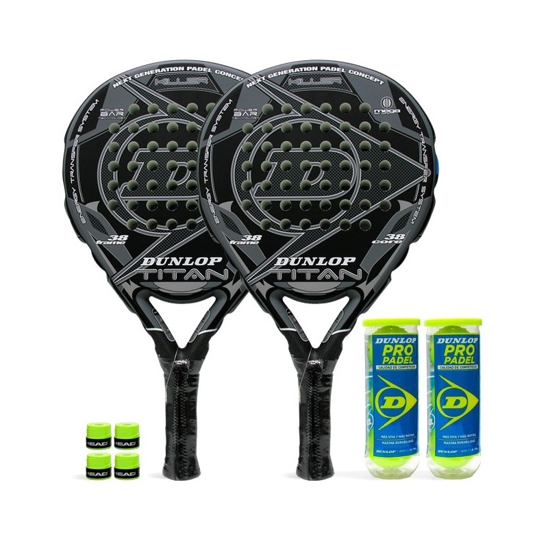 Pack de pádel Duo Dunlop Titan Killer