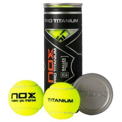 Bote 3 pelotas de pádel Nox Pro Titanium