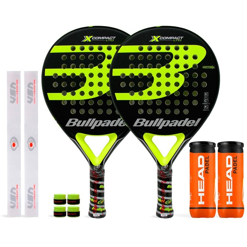 Pack Duo Bullpadel X-Compact LTD Yellow