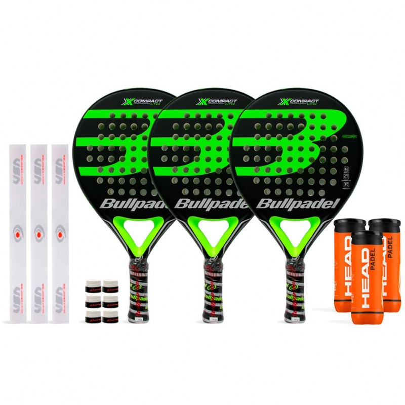 Tripack Bullpadel X-Compact LTD Green