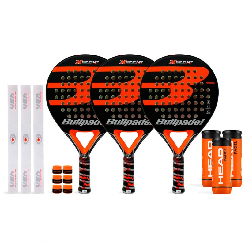 Tripack Bullpadel X-Compact LTD Orange