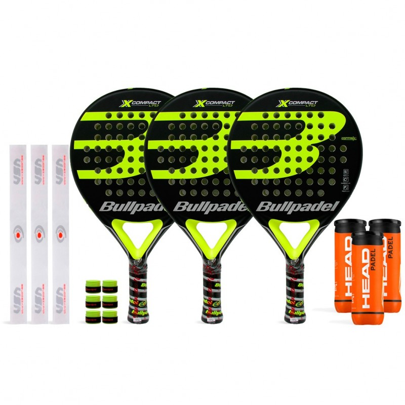 Tripack Bullpadel X-Compact LTD Yellow