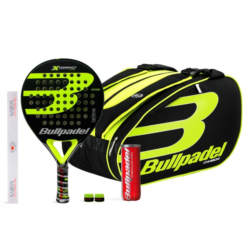 Pack Bullpadel X-Compact LTD Yellow + Bullpadel 18004