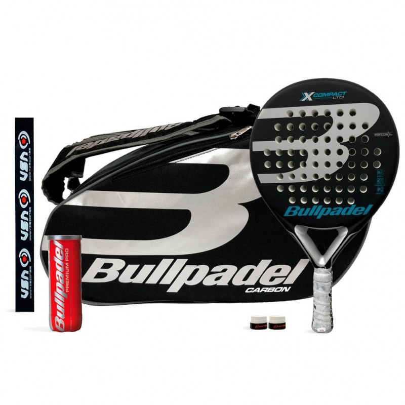 Pack Bullpadel X-Compact LTD Silver + 18004 Silver