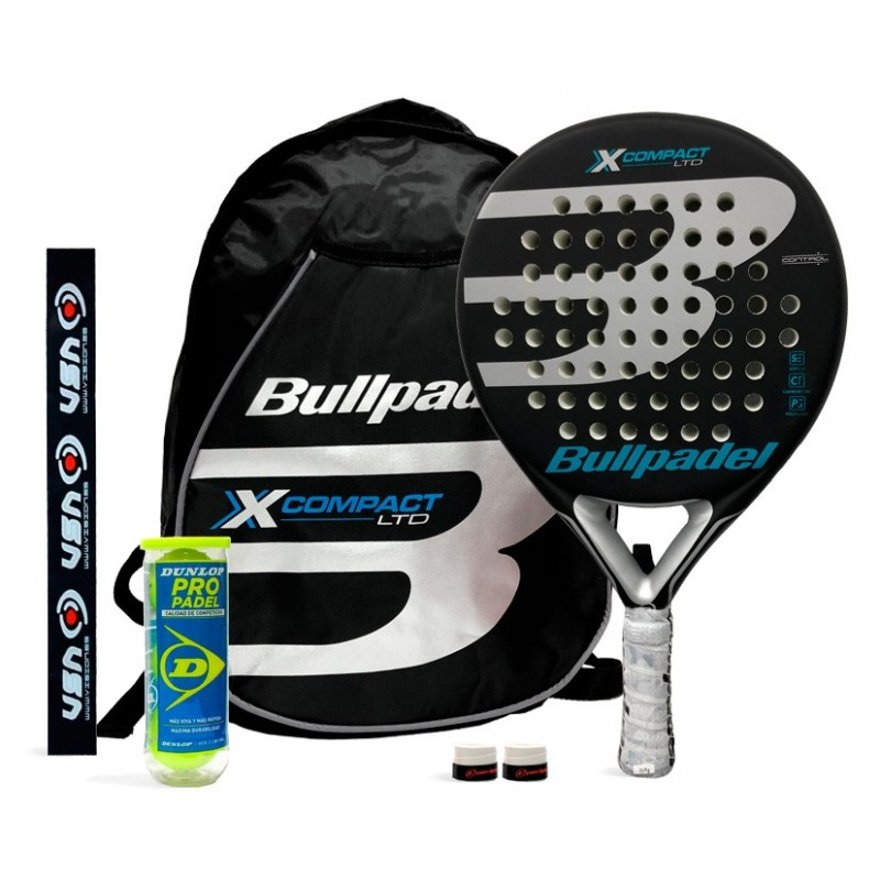 Pack Bullpadel X-Compact LTD Silver + Mochila