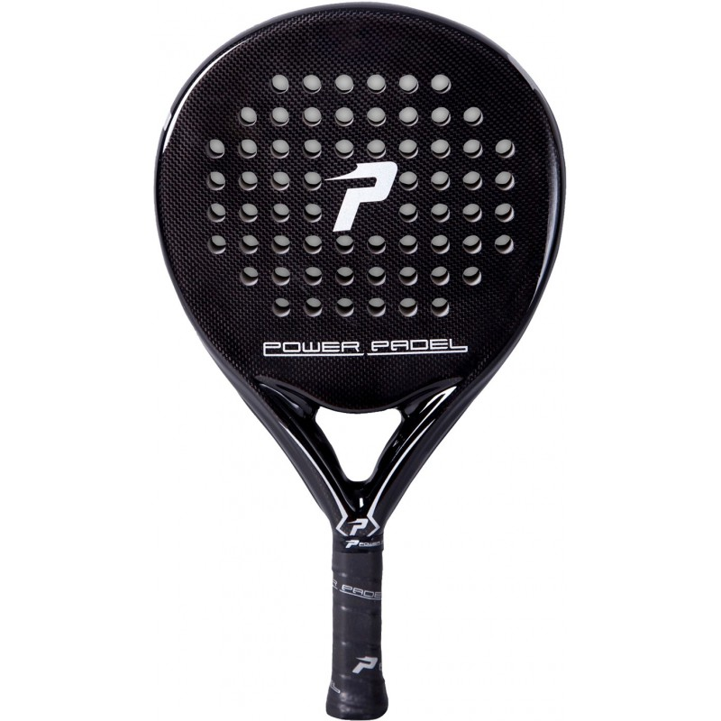 Pala de pádel Power Padel Black Brillo