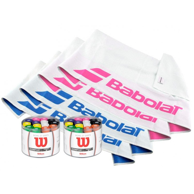 Pack Tambores Wilson color + Toallas Babolat