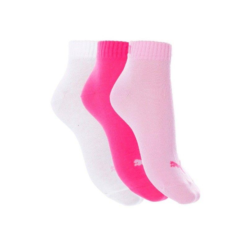 Pack de 3 pares de calcetines Puma Quarter Rosa / Fucsia / Blanco