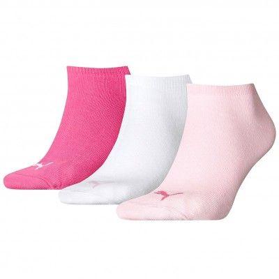 Pack de 3 pares de calcetines Puma Invisible Rosa/ Fucsia/ Blanco