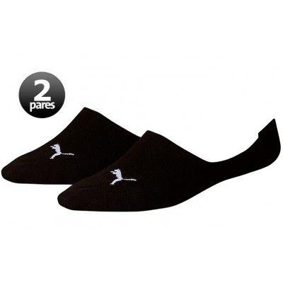 Pack de 2 pares de calcetines Puma Footie Negros