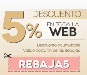 Descuento del 5% en toda la Web - REBAJA5