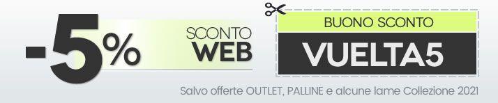 Promozione sconto 5% sul Web
