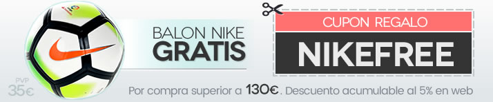 Balón Nike de regalo por compras superiores a 130 euros