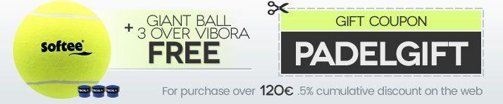 GIANT BALL + 3 VIBRA OVERGRIP gift for purchases over € 120